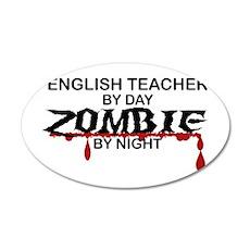 English Teacher Zombie Wall Decal