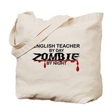 English Teacher Zombie Tote Bag