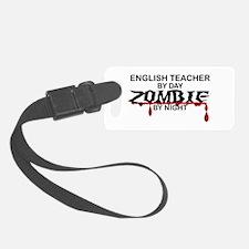English Teacher Zombie Luggage Tag