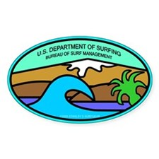 U.S. DEPT. SURFING Oval Decal