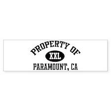 Property of PARAMOUNT Bumper Bumper Sticker
