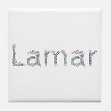 Lamar Paper Clips Tile Coaster