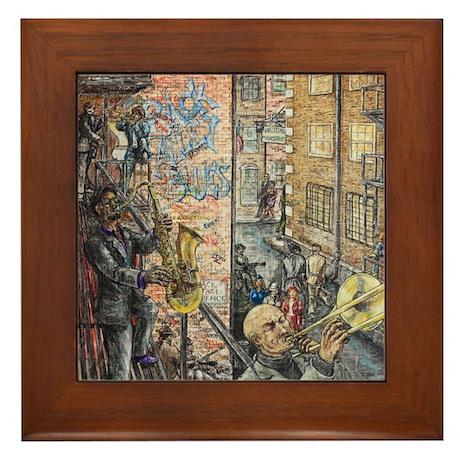 Back Alley Blues Framed Tile