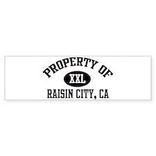 Property of RAISIN CITY Bumper Bumper Sticker