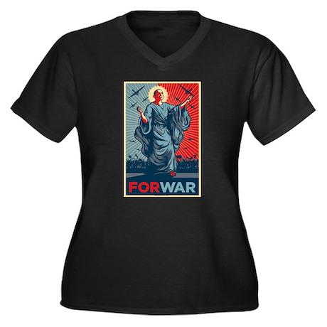 Obama For War Women's Plus Size V-Neck Dark T-Shir
