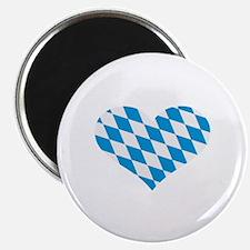 """Bavaria flag heart 2.25"""" Magnet (10 pack)"""