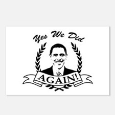 Obama Yes We Did Again V2 BW Postcards (Package of