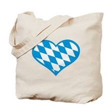 Bavaria flag heart Tote Bag