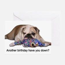 Birthday Blues Greeting Card