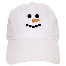 Snowman Face Baseball Cap