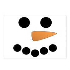 Snowman Face Postcards (Package of 8)
