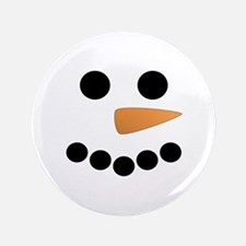 "Snowman Face 3.5"" Button (100 pack)"