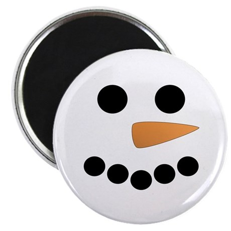 "Snowman Face 2.25"" Magnet (10 pack)"