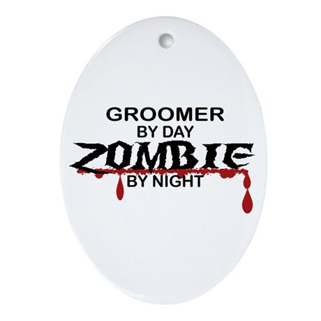 Groomer Zombie Ornament (Oval)