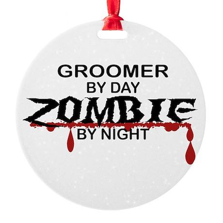 Groomer Zombie Round Ornament
