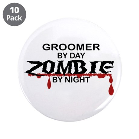 """Groomer Zombie 3.5"""" Button (10 pack)"""