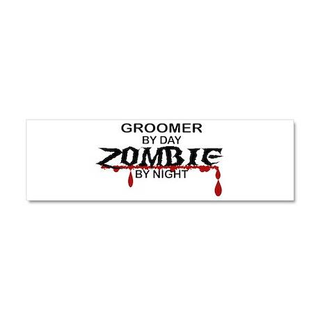 Groomer Zombie Car Magnet 10 x 3