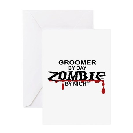 Groomer Zombie Greeting Card