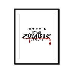 Groomer Zombie Framed Panel Print