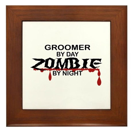 Groomer Zombie Framed Tile