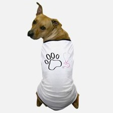 Vet Tech Paw Print + Stethoscope Dog T-Shirt