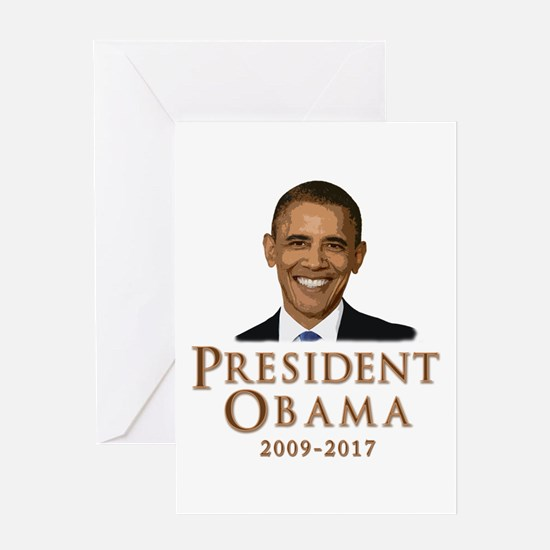 Obama 2009 - 2017 Greeting Card