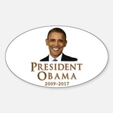Obama 2009 - 2017 Sticker (Oval)