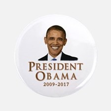 """Obama 2009 - 2017 3.5"""" Button (100 pack)"""