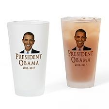 Obama 2009 - 2017 Drinking Glass