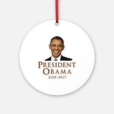 Obama 2009 - 2017 Ornament (Round)