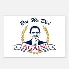 Obama Yes We Did Again V2 Color Postcards (Package