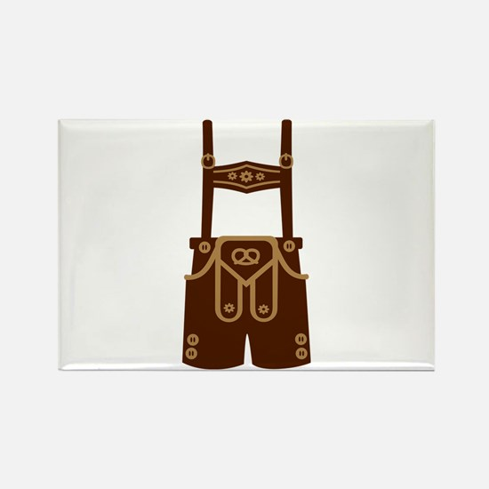 Leather trousers bavaria Rectangle Magnet