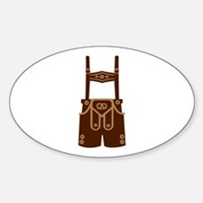 Leather trousers bavaria Sticker (Oval)