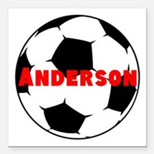 """Personalized Soccer Square Car Magnet 3"""" x 3"""""""