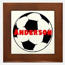Personalized Soccer Framed Tile