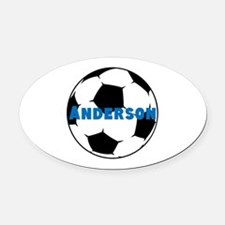 Personalized Soccer Oval Car Magnet