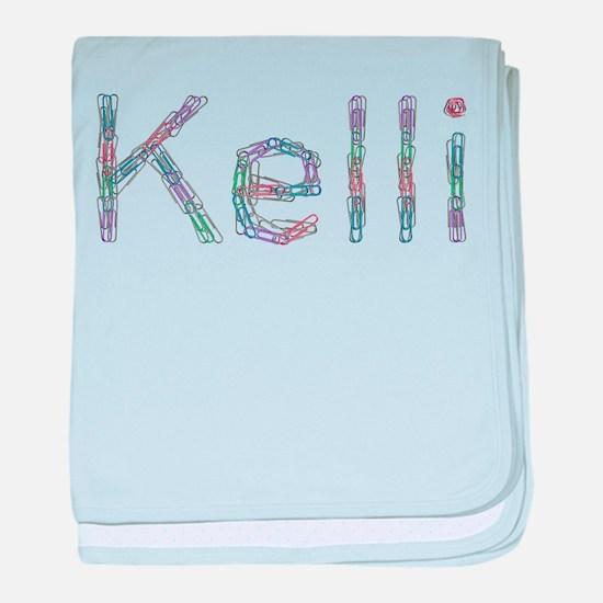 Kelli Paper Clips baby blanket