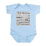 Obama Re-Elected Headline Infant Bodysuit