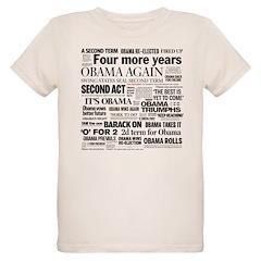 Obama Re-Elected Headline T-Shirt
