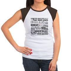 Obama Re-Elected Headline Women's Cap Sleeve T-Shi