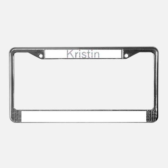 Kristin Paper Clips License Plate Frame