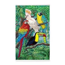 Tropical Birds 3'x5' Area Rug