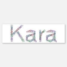 Kara Paper Clips Bumper Bumper Bumper Sticker