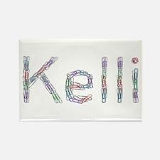 Kelli Paper Clips Rectangle Magnet
