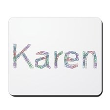 Karen Paper Clips Mousepad