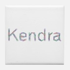 Kendra Paper Clips Tile Coaster