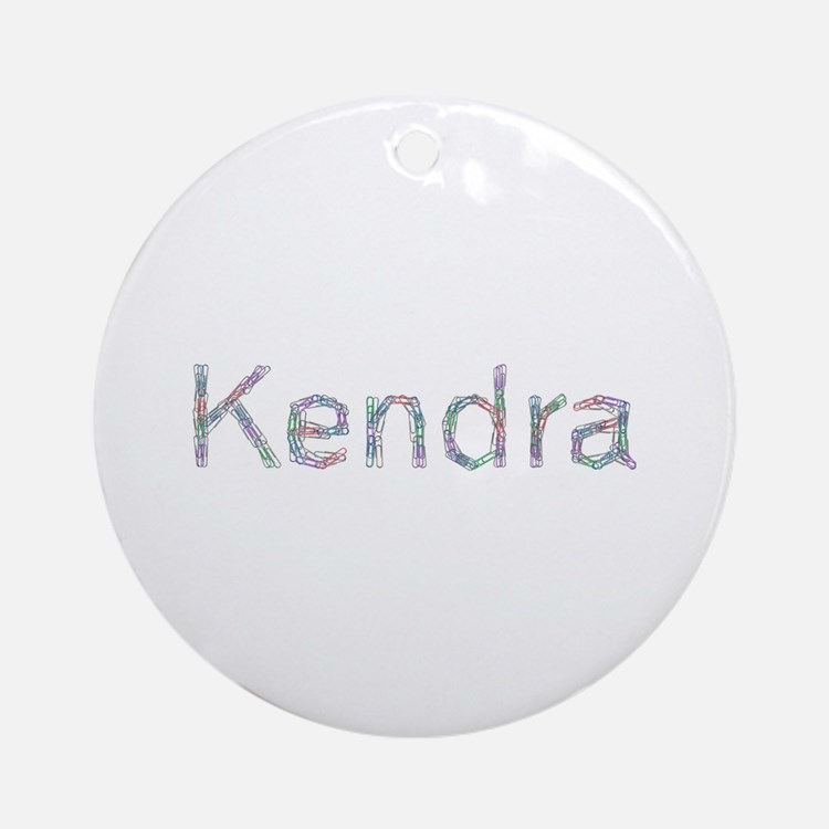 Kendra Paper Clips Round Ornament