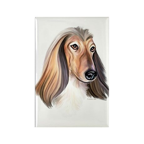 Red Afghan Hound Rectangle Magnet