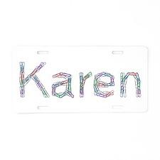 Karen Paper Clips Aluminum License Plate