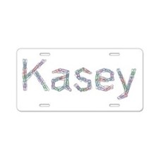 Kasey Paper Clips Aluminum License Plate
